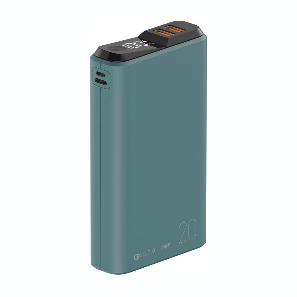 Внешний аккумулятор QS-20, 20000mAh, 18W QuickCharge3.0/PowerDelivery, LCD, мурена, OLMIO