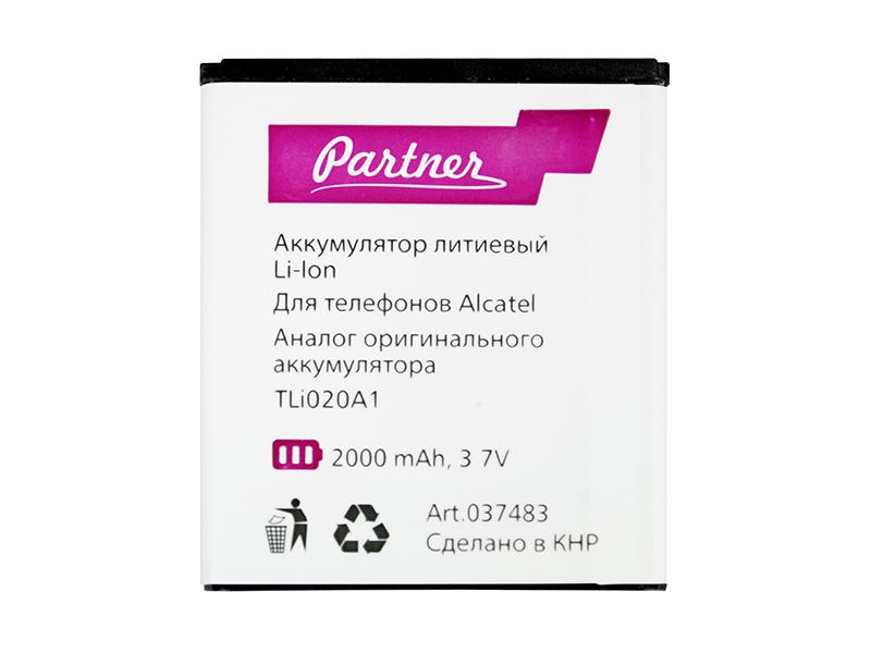 Аккумулятор Partner Alcatel TLi020A1, TLp020A2, CAB2000031C1, CAC2000003C3, 2000mAh