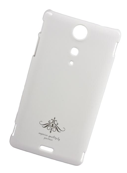 Чехол-накладка Partner для Sony Xperia TX LT29i (белый глянец)