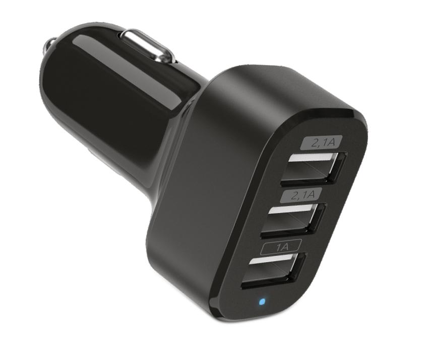 Автомобильное зарядное устройство Partner USB 5.2A, 3USB
