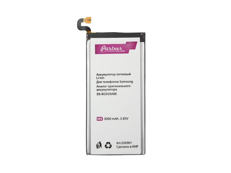 Аккумулятор Partner для Samsung Galaxy S6 Edge Plus SM-G928 (EB-BG928ABE, GH43-04526A, GH43-04526B, CS-SMG928SL), 3000mAh