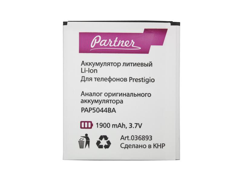 Аккумулятор Partner для Prestigio MultiPhone 5044 Duo (PAP5044BA), 1900mAh