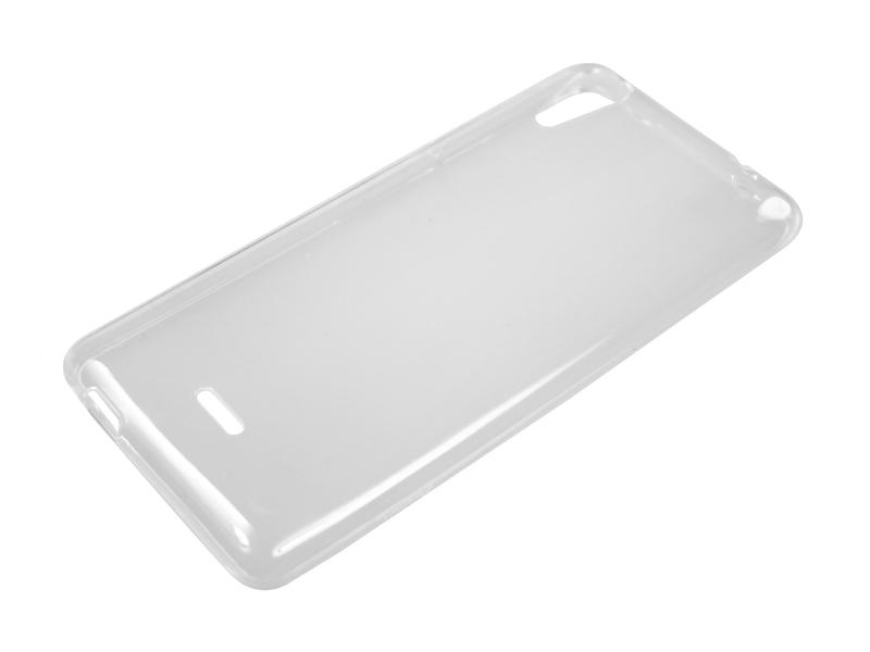 Силиконовый чехол Partner для Micromax Canvas Selfie 2 Q340, 0.6 мм, прозрачный
