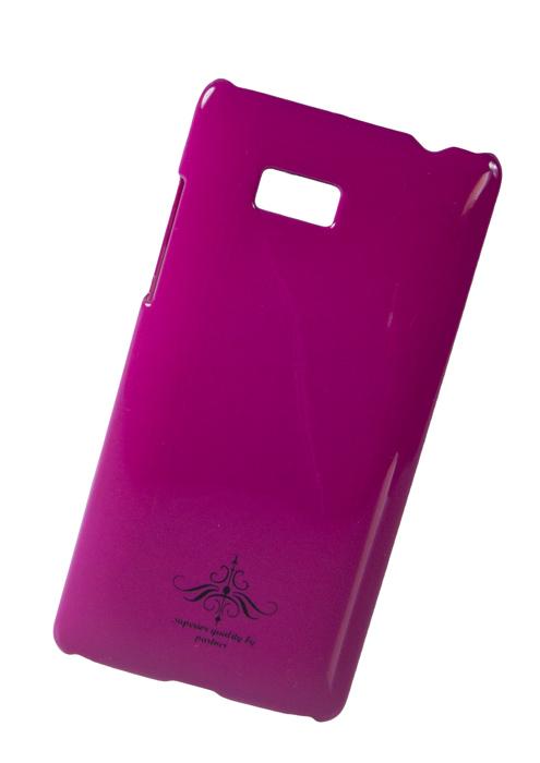 Чехол клип-кейс (накладка) Partner для HTC Desire 600, фуксия глянец