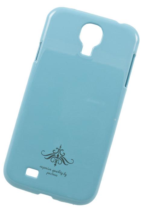 Чехол-накладка Partner для Samsung Galaxy S4 i9500 (глянец голубой)