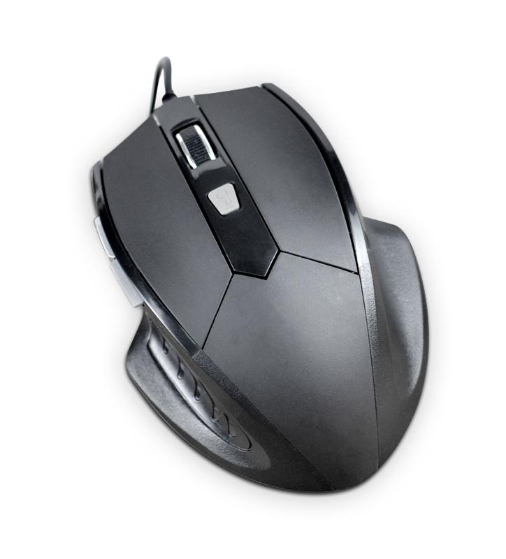 Мышь игровая Rage RM-010 6кн, 800-2400DPI, USB, черная, Partner