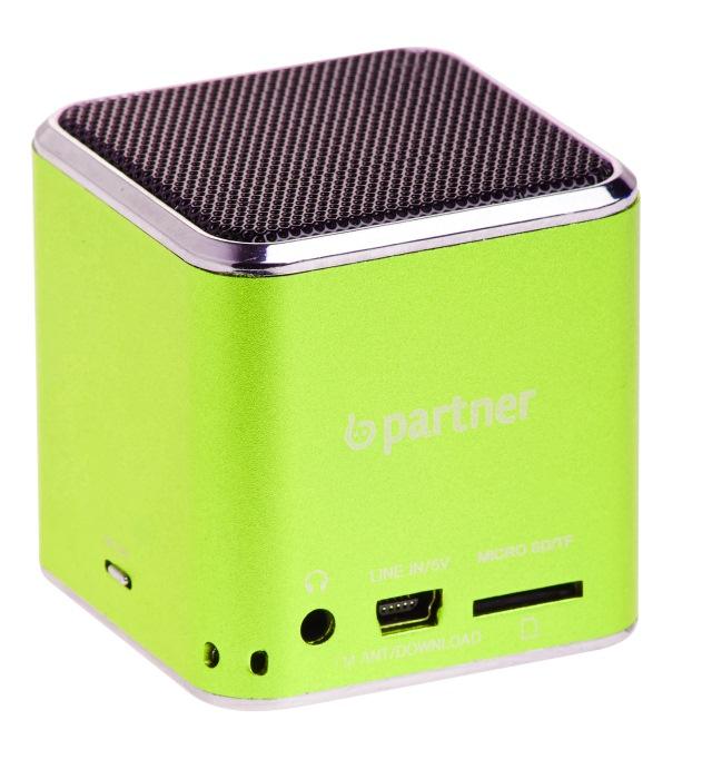 Мультимедийная колонка Partner Cube, зеленая