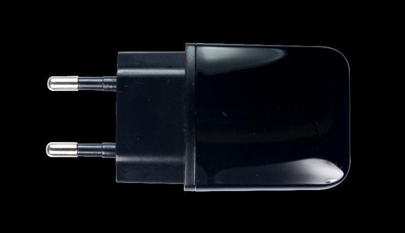 Сетевое зарядное устройство OLMIO, 1 USB, 1А, черный