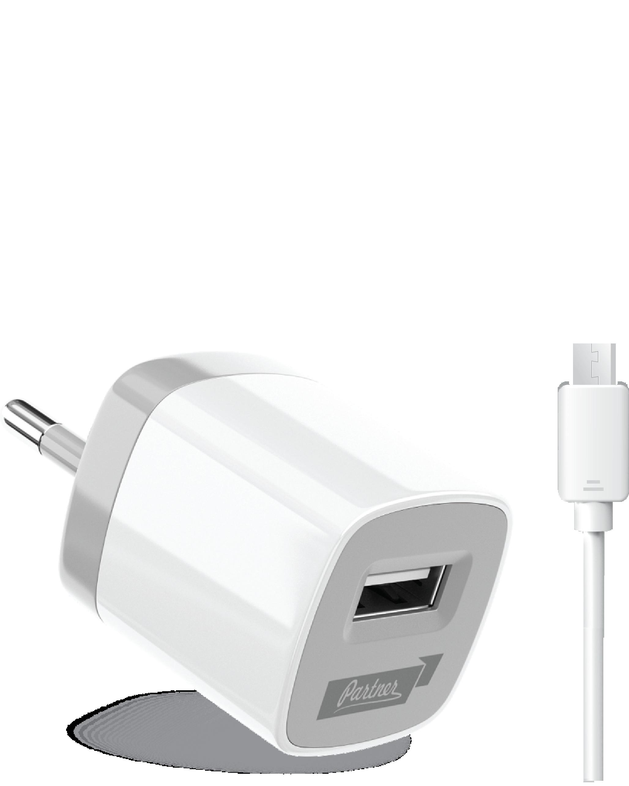 Сетевое зарядное устройство Partner USB 1A +microUSB кабель