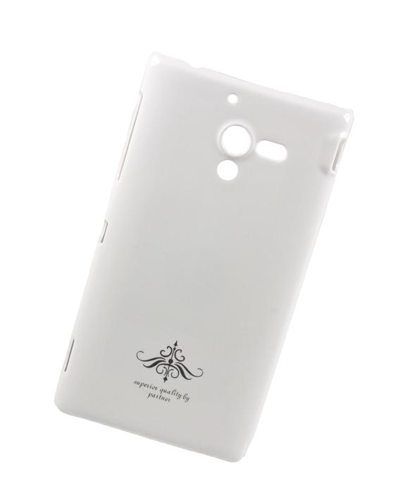 Чехол-накладка для Sony Xperia ZL (C6503) белый глянец