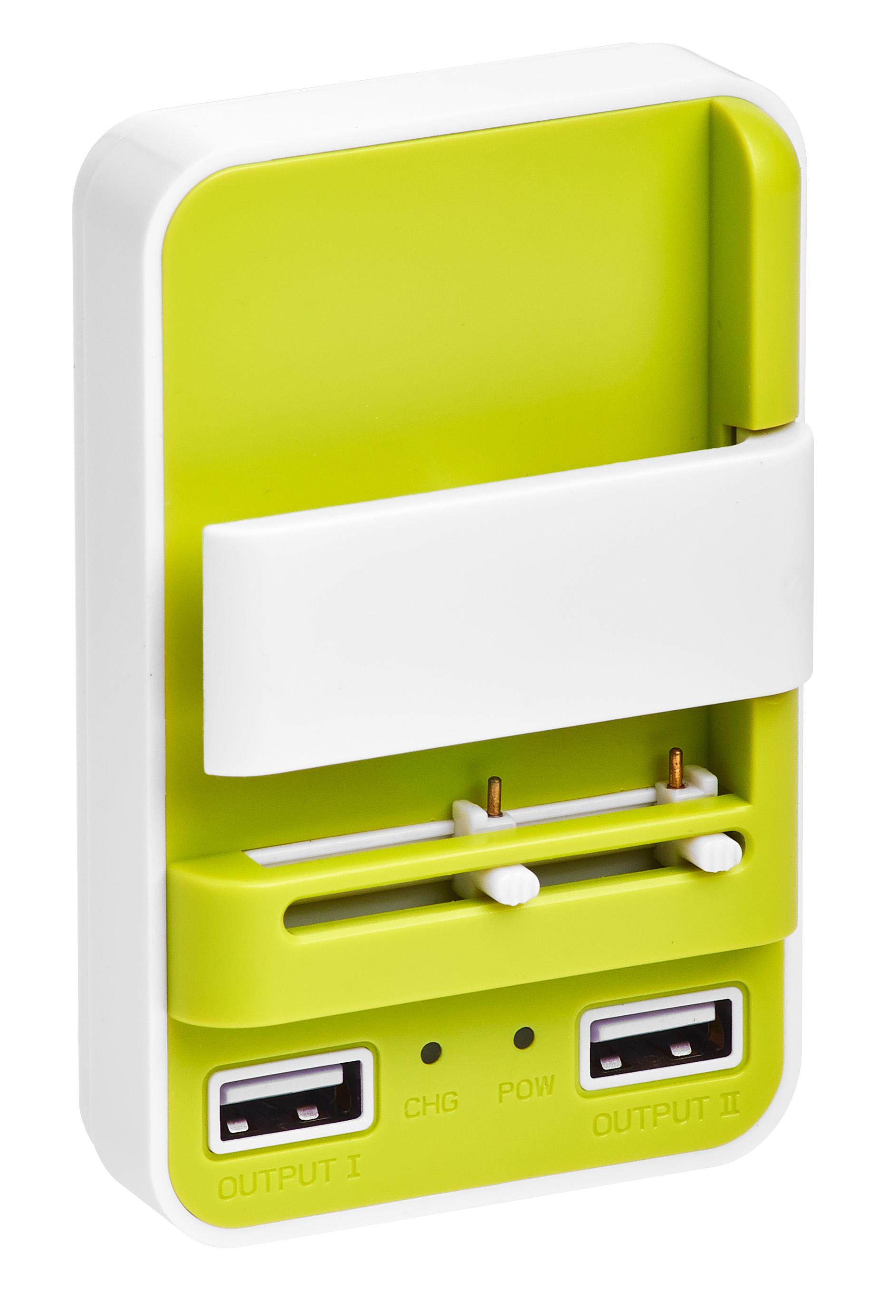 Сетевое зарядное устройство универсальное Partner-цвет зеленый