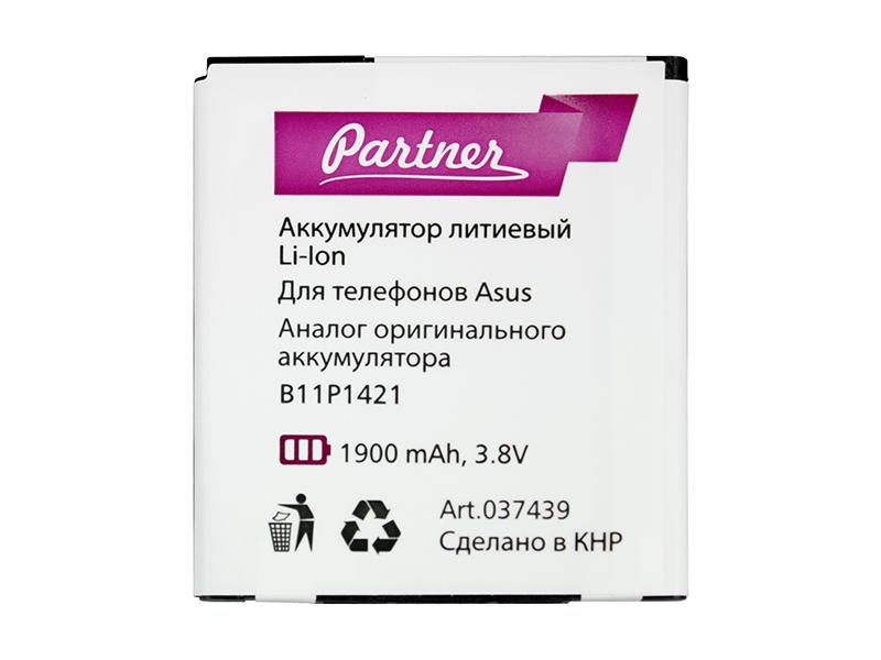 Аккумулятор Partner для ASUS ZenFone C (B11P1421), 1900mAh
