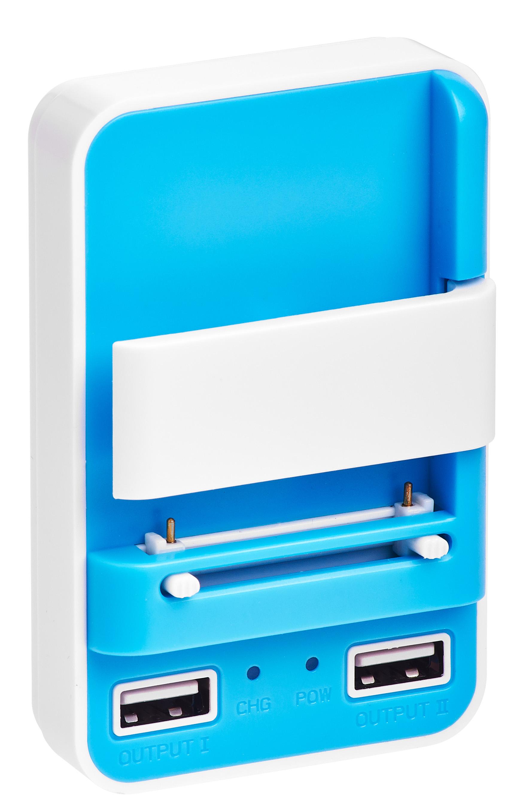 Сетевое зарядное устройство универсальное Partner-цвет голубой