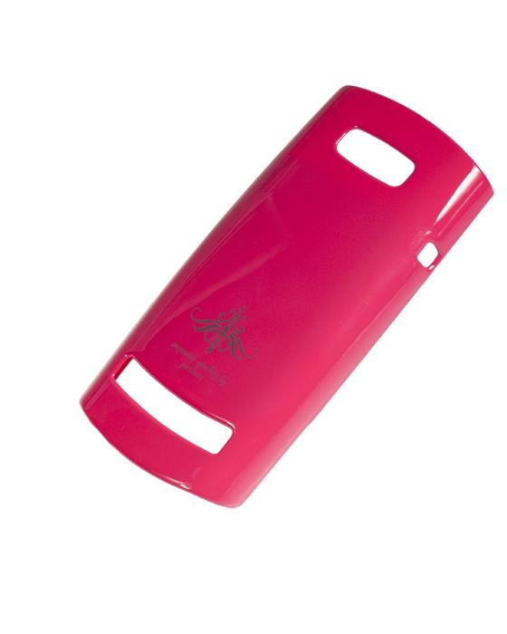 Чехол-накладка Nokia Asha 303 (глянец фуксия розовый)