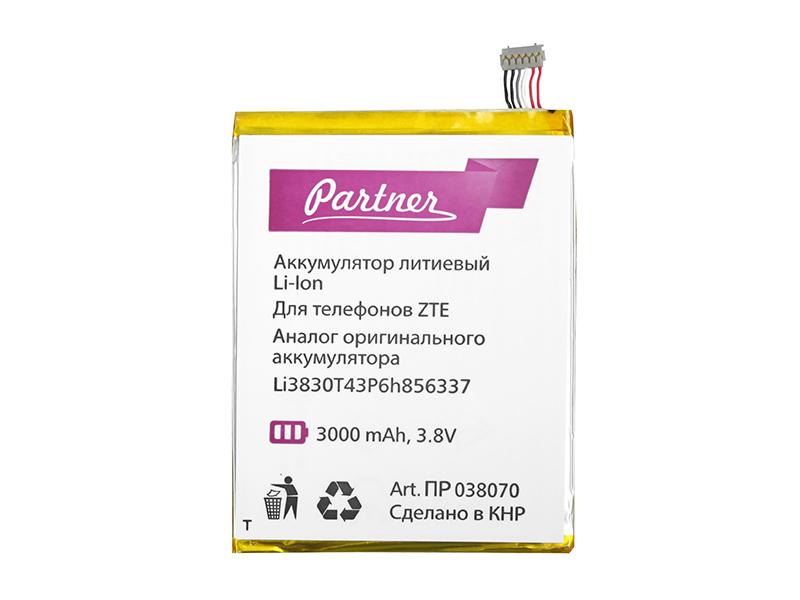Аккумулятор Partner ZTE Li3830T43P6h856337, CS-ZTS600SL, 3000mAh