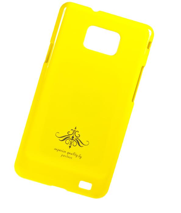 Чехол-накладка Samsung Galaxy S2 Plus i9105 (глянец желтый)