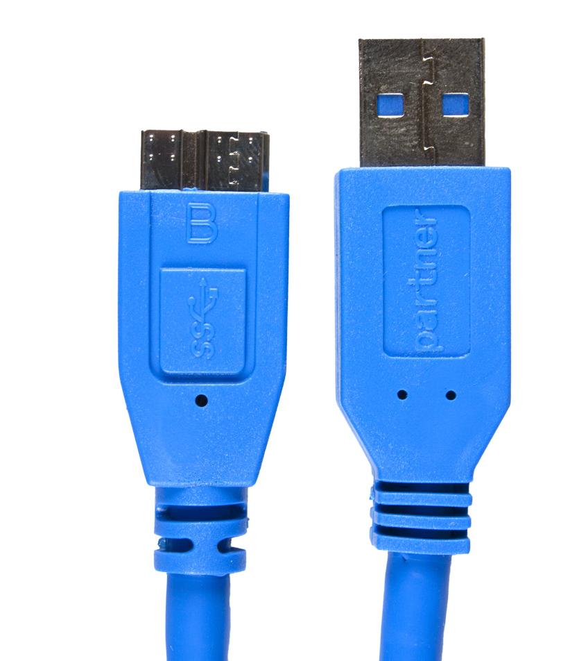 Кабель USB 3.0 - microUSB, 1м, Partner