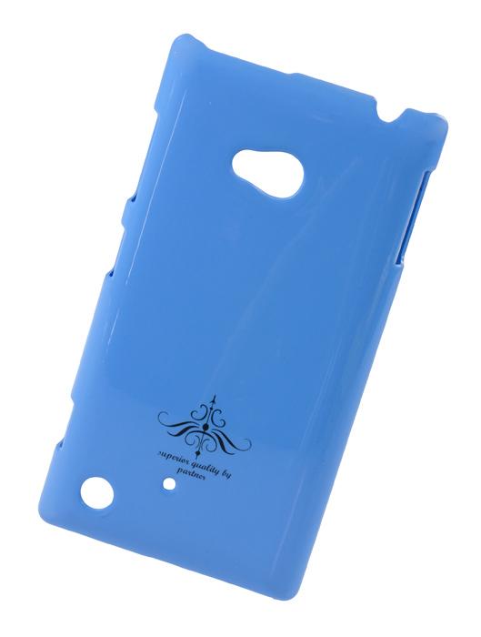 Чехол-накладка для Nokia Lumia 720 (глянец голубой)