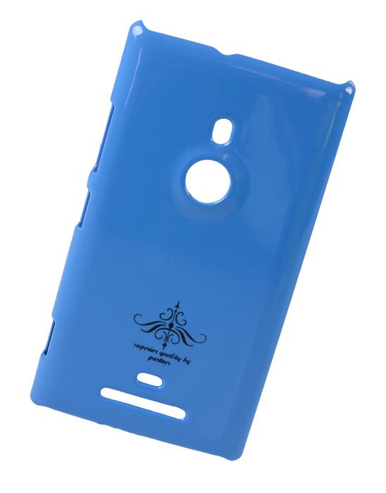 Чехол-накладка для Nokia Lumia 925 (глянец голубой)