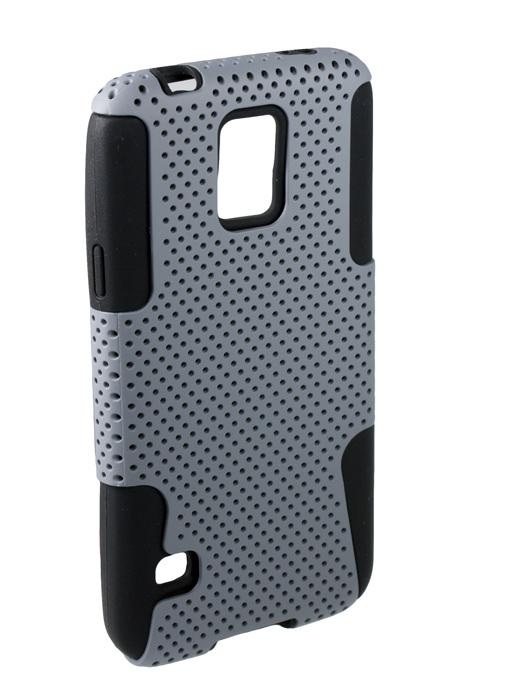 "Чехол-накладка ""сетка"" Partner для Samsung Galaxy S5, серый"