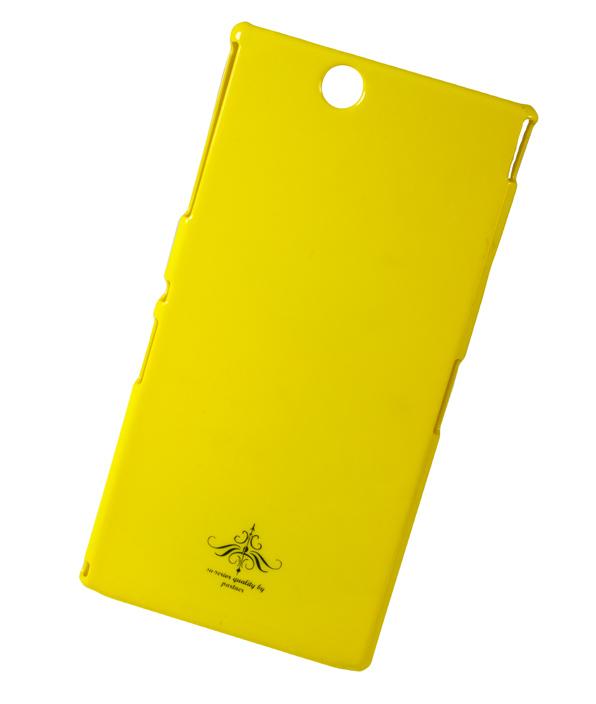 Чехол-накладка для Sony Xperia Z Ultra (C6802) глянец желтый
