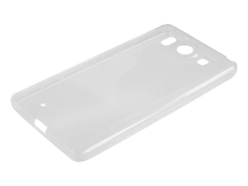 Силиконовый чехол Partner для Microsoft Lumia 950, прозрачный, с защитой камеры