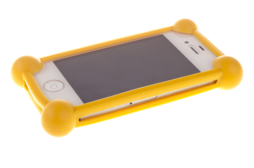 Универсальный бампер для телефона, оранжевый