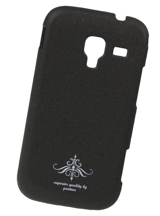 Чехол накладка для Samsung S7500 Galaxy Ace Plus (черный матовый)