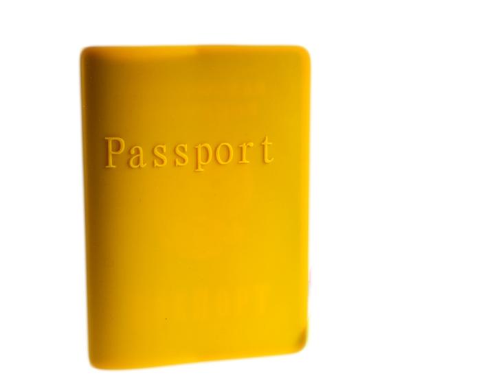 Силиконовая обложка для паспорта оранжевая