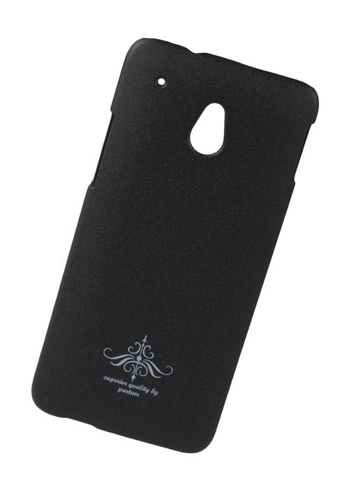 Чехол-накладка Partner для HTC One mini (черный матовый)