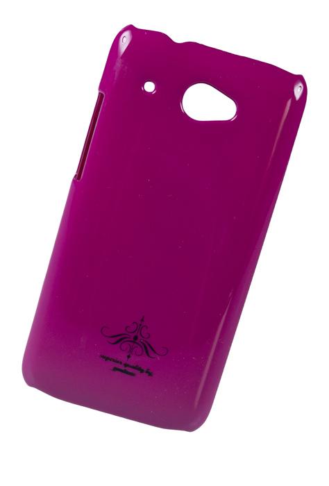 Чехол клип-кейс (накладка) Partner для HTC Desire 601, фуксия глянец