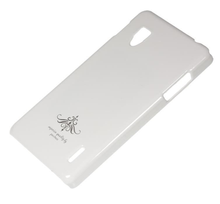 Чехол-накладка LG Optimus G (E975), глянец белый