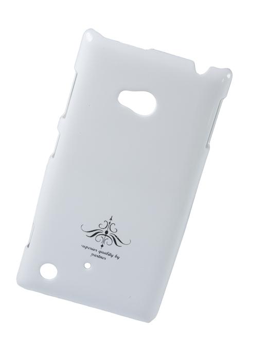 Чехол-накладка для Nokia Lumia 820 (глянец белый)