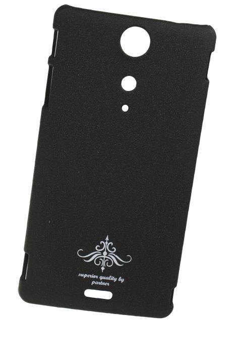 Чехол-накладка для Sony Xperia TX LT29i (черный матовый)
