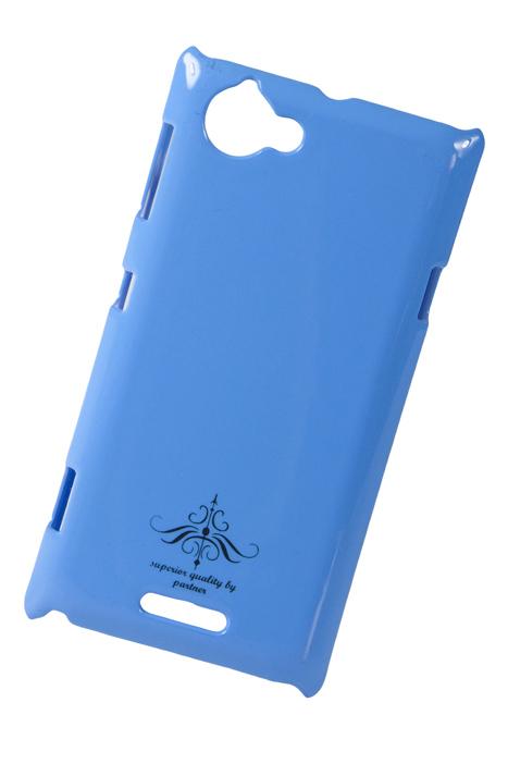 Чехол-накладка Sony Xperia L C2105 (глянец голубой)