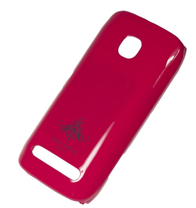 Чехол-накладка Nokia 603 (глянец розовый фуксия)