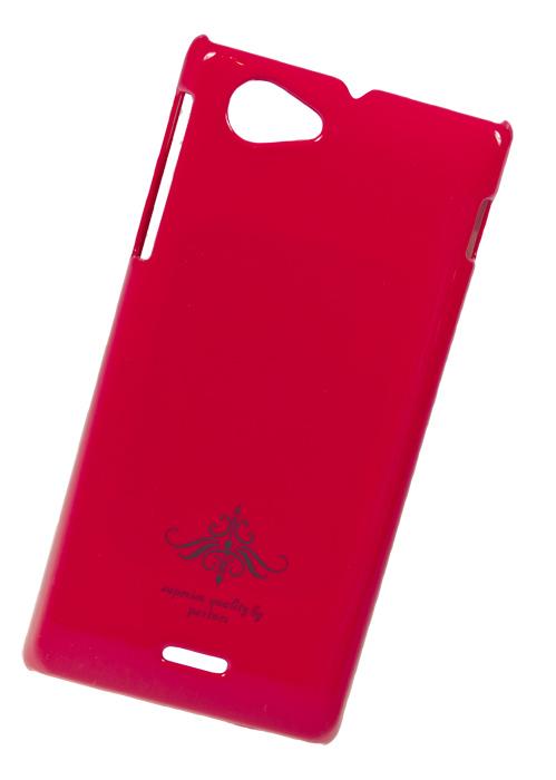 Чехол-накладка Partner для Sony Xperia J (ST26i) фуксия глянец