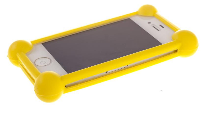 Универсальный бампер для телефона, желтый