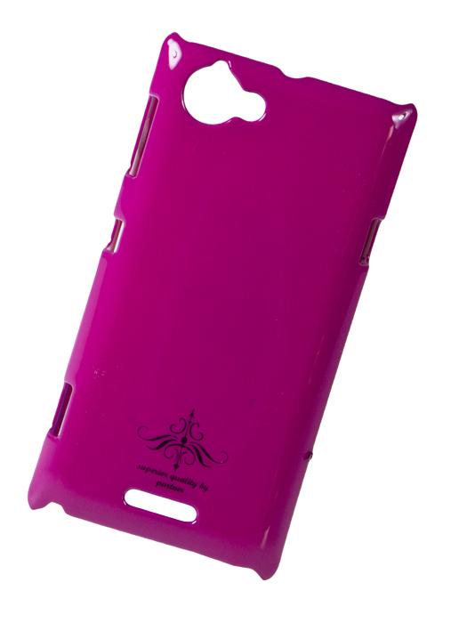 Чехол-накладка Sony Xperia L C2105 (глянец фуксия розовый)
