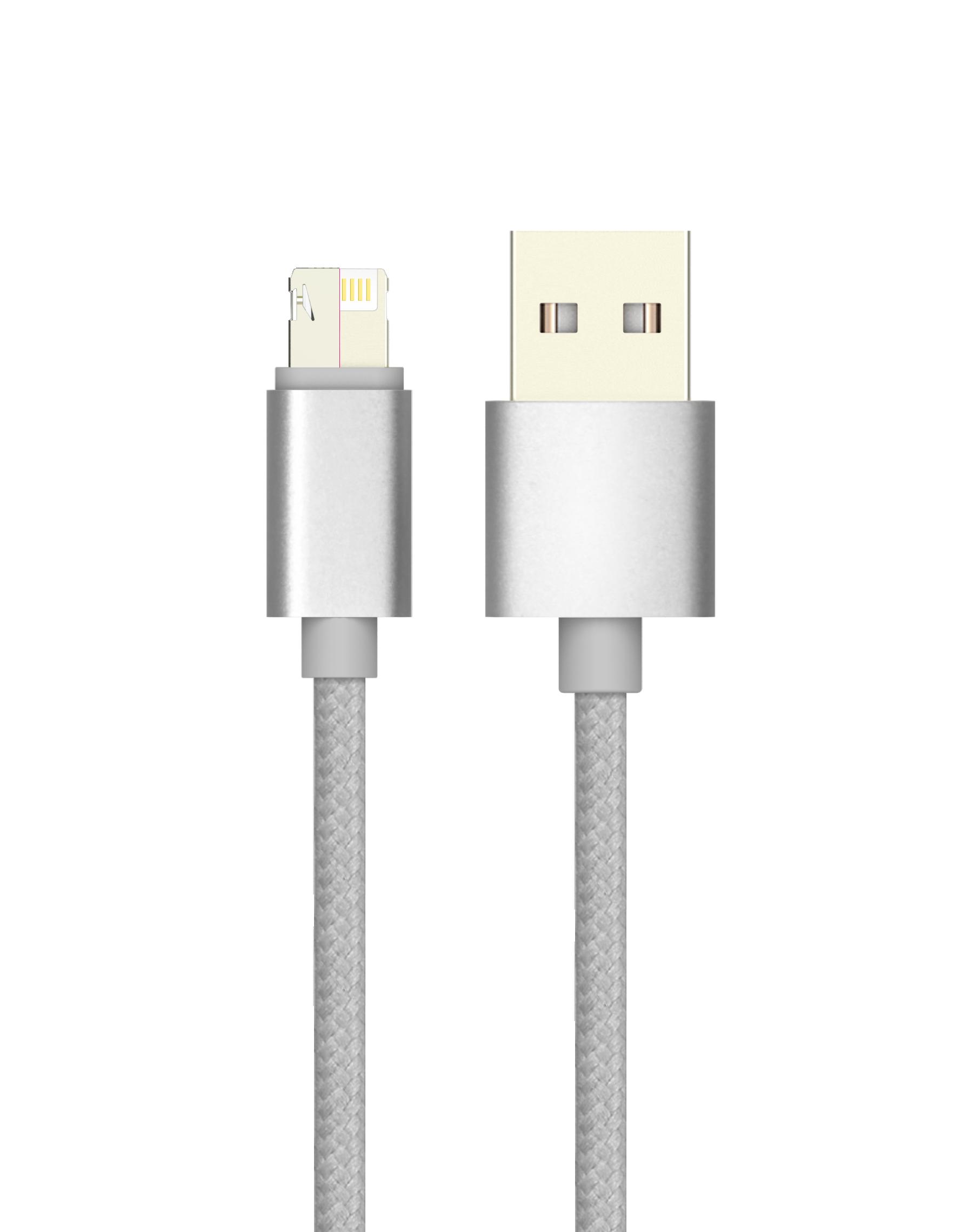 Кабель USB 2.0 - MAGIC 5/8 (microUSB+Lightning), 1м, 2.1А, Partner