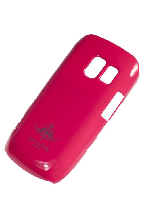 Чехол-накладка Nokia Asha 302 (глянец фуксия розовый)