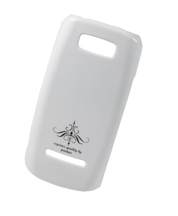 Чехол-накладка Nokia Asha 305/306 (глянец белый)