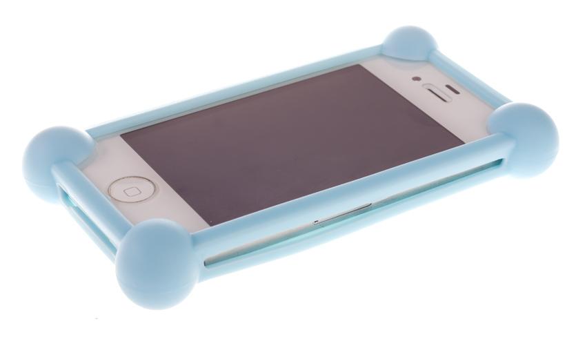 Универсальный бампер для телефона, светло-голубой