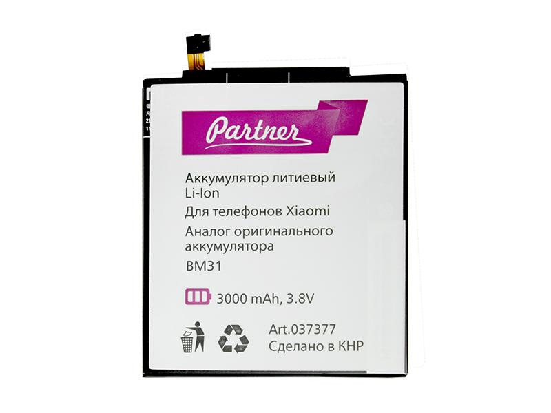Аккумулятор Partner для Xiaomi Mi3 (BM31), 3000mah