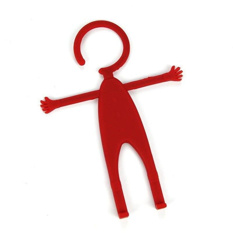 Держатель универсальный Mr.Flex, силиконовый, красный