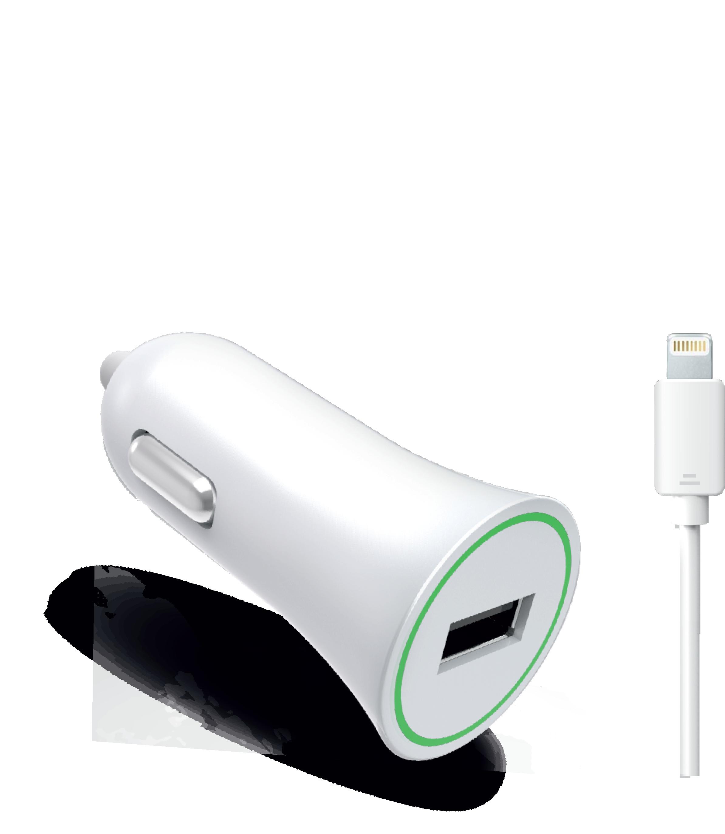 Автомобильное зарядное устройство Partner USB 1A +Apple 8pin кабель