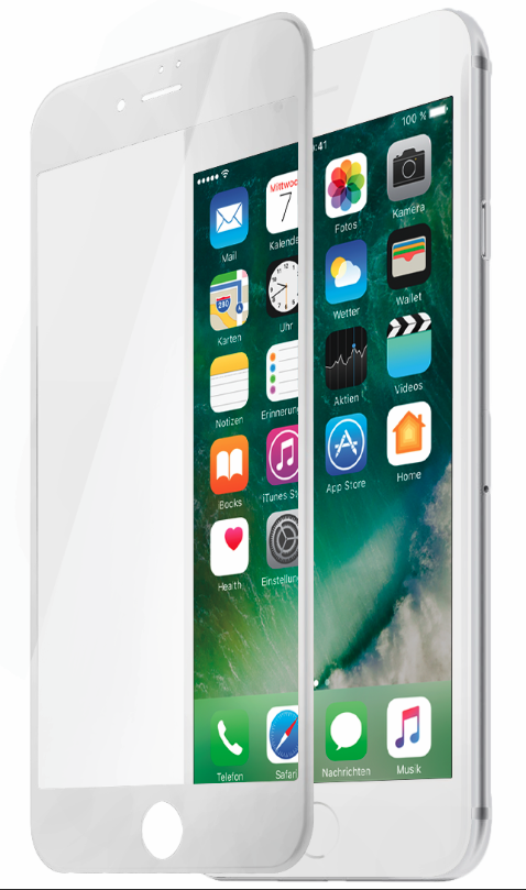 Защитное 3D-стекло Partner для iPhone 7 Plus, белое