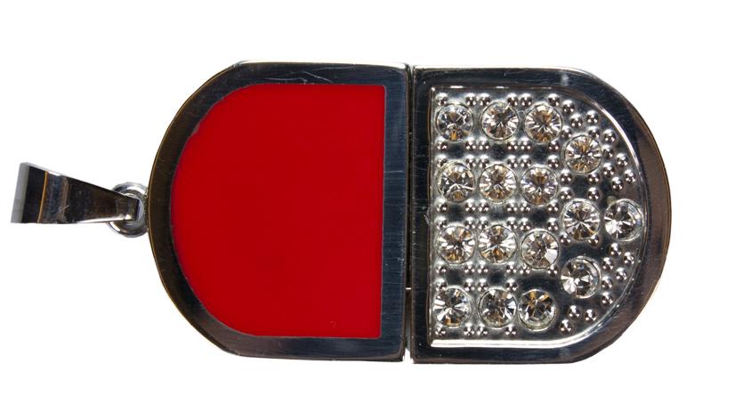 USB-Flash 4GB T022/красная со стразами