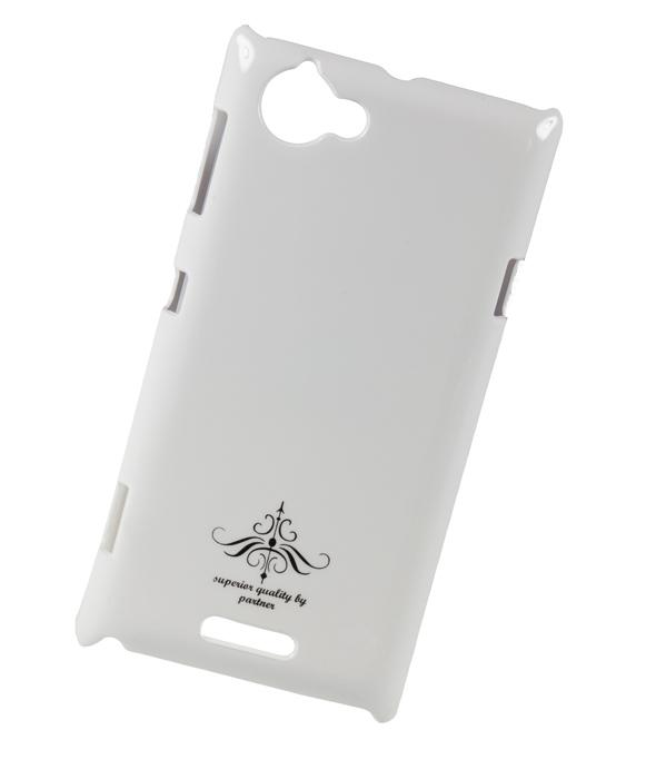Чехол клип-кейс (накладка) Sony Xperia L C2105, глянец белый