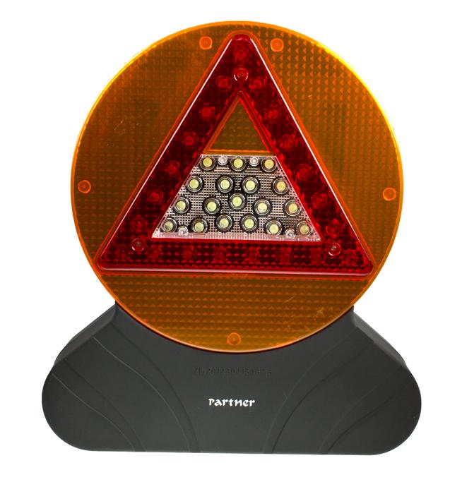 """Светодиодный фонарь водителя """"Driver"""", черный, 18+30+21 LED, 3xАA, Partner"""